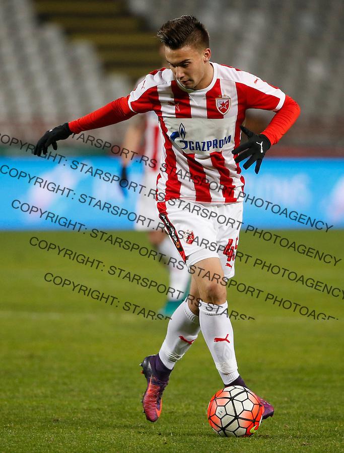 Fudbal Super League season 2016-2017<br /> Crvena Zvezda v Mladost (Lucani)<br /> Luka Adzic<br /> Beograd, 01.12.2016.<br /> foto: Srdjan Stevanovic/Starsportphoto&copy;