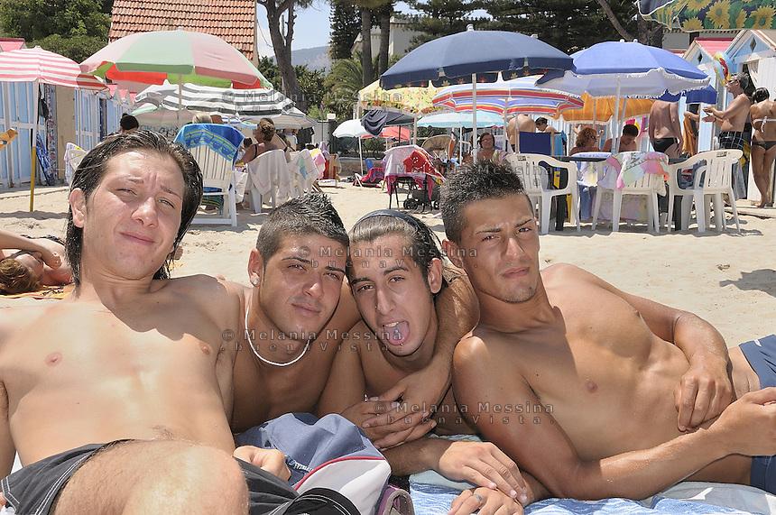 Palermo, Mondello  during the summer.