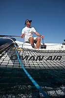Extreme Sailing Series 2011. Leg 1. Muscat. Oman.Oman Air EX40 team training skipper Sidney Gavignet