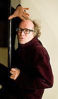 Como, Italy, 2007. Enrico Ghezzi, Italian cinematographic critic and creator of 'Blob', satiric tv program.