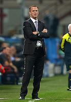 FUSSBALL   CHAMPIONS LEAGUE   SAISON 2012/2013   GRUPPENPHASE   AC Mailand - Anderlecht                            18.09.2012 Trainer John van den Brom  (Anderlecht)