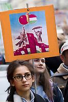UNGARN, 22.04.2017, Budapest - VI. Bezirk. Die Spasspartei MKKP, &quot;Partei der doppelschwaenzigen Hunde&quot;, ruft zum Satire-Protest gegen die von der Fidesz-Regierung betriebene Putinisierung Ungarns. Es wird eine unerwartete Grossdemonstration mit tausenden Teilnehmern. -Alte Ungarisch-Sowjetische Freundschaft. | The MKKP funparty &quot;Two-tailed dog party&quot; calls for satiric protest against the Fidesz government's putinization of Hungary. The event turns into a large demonstration with thousands of participants. -Old Soviet-Hungarian friendship.<br /> &copy; Martin Fejer/EST&amp;OST