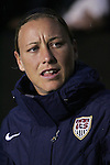 27 April 2008: Abby Wambach (USA). The United States Women's National Team defeated the Australia Women's National Team 3-2 at WakeMed Stadium in Cary, NC in a rain delayed women's international friendly soccer match.