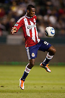 CD Chiavs USA rookie forward Victor Estupinan (99) moves wit the ball. The Colorado Rapids defeated CD Chivas USA 1-0 at Home Depot Center stadium in Carson, California on Saturday March 26, 2011...