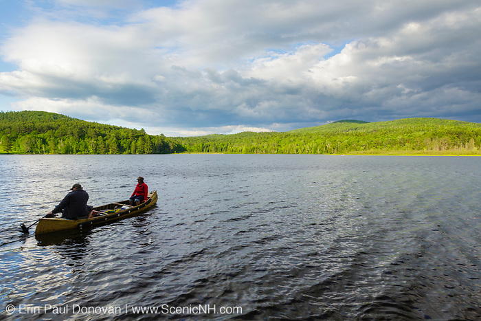 Pearl Lake in Lisbon, New Hampshire USA during the spring months