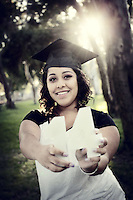 17 July 2013: Jessica Enriquez (17) High School Senior photo session in Huntington Beach, CA.