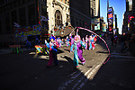 USA, NEW YORK, November 24, 2011.Clowns perform on Times Square while American celebrated the Macy's Thanksgiving day parade in New York, November 24,2011. VIEWpress / Eduardo Munoz Alvarez..The Macy's parade is considered by many to be the official start of the holiday season. Balloons, bands and dignitaries trooped through midtown Manhattan Thursday morning for the 85th annual Macy's Thanksgiving Day Parade. Media Reported.