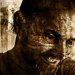 A conceptual image of a smiling mans face