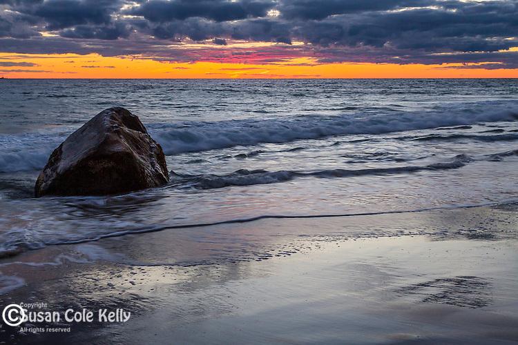 Sunset on Moshup Beach, Aquinnah, Marthas Vineyard, Massachusetts, USA
