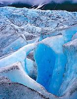 Natural Arch of Ice on Walker Glacier, Glacier Bay National Park and Preserve, Alaska
