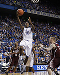 UK guard Archie Goodwin makes a lay-up during the second half of the men's basketball game against Mississippi State at Rupp Arena in Lexington, Ky. on Saturday, February 27, 2013. Photo by Genevieve Adams