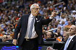 11 March 2016: UNC head coach Roy Williams. The University of North Carolina Tar Heels played the University of Notre Dame Fighting Irish at the Verizon Center in Washington, DC in the Atlantic Coast Conference Men's Basketball Tournament semifinal and a 2015-16 NCAA Division I Men's Basketball game. UNC won the game 78-47.