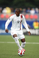 USA forward (12) Josmer Altidore. Austria (AUT) defeated the United States (USA) 2-1 in overtime of a FIFA U-20 World Cup quarter-final match at the National Soccer Stadium at Exhibition Place, Toronto, Ontario, Canada, on July 14, 2007.