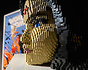 THE ART OF THE BRICK: DC SUPER HEROES - Artist Nathan Sawaya returns to London with the world's largest LEGO exhibition, inspired by Batman, Superman, and Wonder Woman. The exhibition opens, in a purpose-built marquee in Doon Street car park, Upper Ground, on the South Bank. Picture shows: Wonder Woman Bust