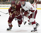 Christopher Brown (BC - 10), Ryan Donato (Harvard - 16) - The Harvard University Crimson defeated the visiting Boston College Eagles 5-2 on Friday, November 18, 2016, at Bright-Landry Hockey Center in Boston, Massachusetts.{headline] - The Harvard University Crimson defeated the visiting Boston College Eagles 5-2 on Friday, November 18, 2016, at Bright-Landry Hockey Center in Boston, Massachusetts.