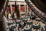 Statuary Hall in the U.S. Capitol is set for the Inaugural Luncheon on Monday, January 21, 2013 in Washington, DC.