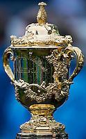 Rugby World Cup Hamilton Wales v Fiji  Pool D 02/10/2011. The Webb Ellis Cup.Photo Mike Frey Fotosports International/AMN