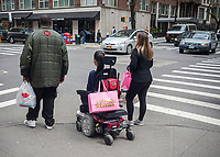 Women with their Pookie & Sebastian brand purchases in New York Saturday, April 15, 2017. (© Richard B. Levine)
