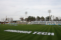 A view of SAS Stadium prior to the NCAA College Cup semi-finals at SAS Stadium in Cary, NC on December 13, 2007.