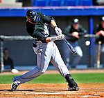 8 March 2010: Florida Marlins' infielder Jorge Cantu in action during a Spring Training game against the Washington Nationals at Space Coast Stadium in Viera, Florida. The Marlins defeated the Nationals 12-2 in Grapefruit League action. Mandatory Credit: Ed Wolfstein Photo