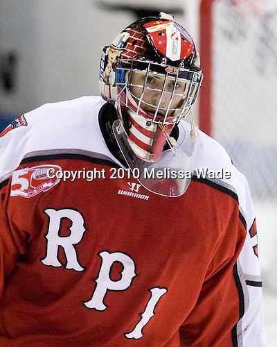 Allen York (RPI - 30) - The visiting Rensselaer Polytechnic Institute Engineers tied their host, the Northeastern University Huskies, 2-2 (OT) on Friday, October 15, 2010, at Matthews Arena in Boston, MA.