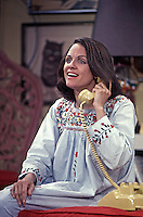 Valerie Harper rehearses scene during first season of Rhoda, CBS Studios, Los Angeles, 1974.