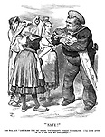 """""""Safe!"""" John Bull, AB. """"Lor' bless you, my dears, you needn't worrit yourselves. I'll look after 'Im as if he was my own child!"""""""