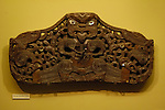 Maori window lintel, Canterbury Museum, Christchurch, New Zealand