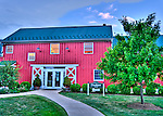 The Doukenie Winery tasting room is in a large farmhouse.  (HDR image taken in evening.)