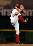 14 June 2006: Bill Bray, pitcher for the Washington Nationals, in action against the Colorado Rockies in Washington, DC. The Rockies defeated the Nationals 14-8 in front of 24,273 fans at RFK Stadium...Mandatory Photo Credit: Ed Wolfstein Photo.
