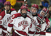(Hart) Desmond Bergin (Harvard - 37), Jimmy Vesey (Harvard - 19) (Malone) - The Harvard University Crimson defeated the Princeton University Tigers 3-2 on Friday, January 31, 2014, at the Bright-Landry Hockey Center in Cambridge, Massachusetts.