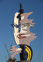 Barcelona Head; Roy Lichtenstein (New York 1923 ? 1997); 1992; Concrete and ceramic, 64 feet x 46 feet 7 inches, Barcelona, Catalonia, Spain Picture by Manuel Cohen