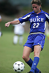 Kate Seibert, of Duke, takes a shot on Sunday October 2nd, 2005 at SAS Stadium in Cary, North Carolina. The Duke University Blue Devils defeated the North Carolina State University Wolfpack 1-0 during an Atlantic Coast Conference women's soccer game.