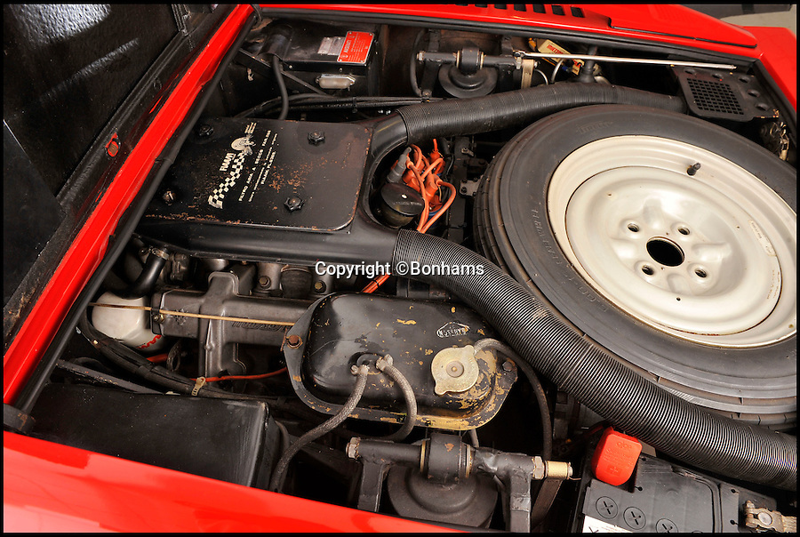 BNPS.co.uk (01202 558833)<br /> Pic: Bonhams/BNPS<br /> <br /> ***Please Use Full Byline***<br /> <br /> The Maserati's engine. <br /> <br /> Money, money, money... is what you need to get your hands on this plush Maserati sports car - because it used to belong to ABBA's Benny Andersson. <br /> <br /> The luxury red motor was bought brand new by the Swedish pop star after the band exploded onto the music scene with their catchy 1974 hit Waterloo - and it is now for sale for 80,000 pounds.<br /> <br /> Andersson, who with Bjorn Uvaelus penned most of ABBA's biggest hits including Super Trouper Money Money Money and Dancing Queen, snapped it up in 1976.<br /> <br /> Prospective buyers are now being invited to 'take a chance' on winning the car in an auction staged by Bonhams.