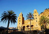 The Cathedral at Cefalu, Sicily, Italy.