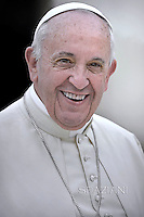 Pope Francis during general audience at the Vatican,September 2, 2015