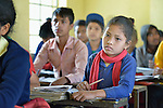 Students in class in Pida, a village in Nepal's Dhading District where the United Methodist Committee on Relief (UMCOR), a member of the ACT Alliance, is helping families to rebuild their lives in the wake of the 2015 earthquake that ravaged much of Nepal.