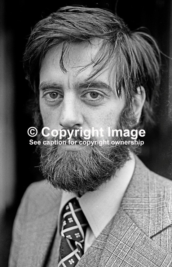 Ciaran McKeown, press officer, Peace People, N Ireland, October 1976. 197610150441a. Previously he worked as a journalist for the Irish Press and Irish Times. <br />