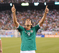 Mexico Aldo De Nigris Celebrates his score. Mexico defeated Guatemala 2-1 in the quaterfinals for the 2011 CONCACAF Gold Cup , at the New Meadowlands Stadium, Saturday June 18, 2011.