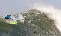 Nathan Fletcher, Shane Desmond. Mavericks Surf Contest in Half Moon Bay, California on February 13th, 2010.