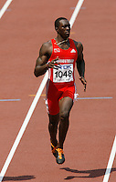 Marc Burns of Trinidad & Tobago in the 1st. round of the 100m dash, finishad with a time of 10.22sec. at the 11th. IAAF World Championships in Osaka, Japan on Saturday August 25, 2007. Photo by Errol Anderson, The Sporting Image.Assorted images of the 11th. World  Track and Field Championships held in Osaka, Japan.