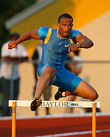 Jerome Miller ran 51.82sec. in the 400m hurdles @ the Michael Johnson Classic held @ Baylor Univ., Waco,Texas on Saturday, April 21, 2007. Photo by Errol Anderson, The Sporting Image.