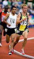 EUGENE, OR--Alan Webb competes in the men's 2 mile at the Steve Prefontaine Classic, Hayward Field, Eugene, OR. SUNDAY, JUNE 10, 2007. PHOTO © 2007 DON FERIA