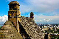 A view from on top of Edinburgh Castle