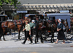 "Amish kids park their horse and buggy's in Pennsylvania Dutch Country Amish Country in Lancaster County PA, Pennsylvania Dutch in Amish Country Lancaster County Pennsylvania, Amish, Horse and buggy with amish family on backroads of Pennsylvainia, buggy, amish family, buggy and horse, Commonwealth of Pennsylvania, Commonwealth of Pennsylvania, natives, Northeasterners, Middle Atlantic region, Philadelphia, Keystone State, 1802, Thirteen Colonies, Declaration of Independence, State of Independence, Liberty, Conestoga wagons, Quaker Province, Founding Fathers, 1774, Constitution written, Photography history, Fine art by Ron Bennett Photography.com, Stock Photography, Fine art Photography and Stock Photography by Ronald T. Bennett Photography ©, All rights reserved copyright Ron Bennett Photography.Com, FINE ART and STOCK PHOTOGRAPHY FOR SALE, CLICK ON  ""ADD TO CART"" FOR PRICING,"