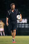 05 September 2014: Wake Forest head coach Jay Vidovich. The Wake Forest University Demon Deacons hosted the University of Connecticut Huskies at W. Dennie Spry Soccer Stadium in Winston-Salem, North Carolina in a 2014 NCAA Division I Men's Soccer match. Wake Forest won the game 2-1 in sudden death overtime.