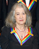 Argentine pianist Martha Argerich, one of the five recipients of the 39th Annual Kennedy Center Honors pose for a group photo following a dinner hosted by United States Secretary of State John F. Kerry in their honor at the U.S. Department of State in Washington, D.C. on Saturday, December 3, 2016.  The 2016 honorees are: Argentine pianist Martha Argerich; rock band the Eagles; screen and stage actor Al Pacino; gospel and blues singer Mavis Staples; and musician James Taylor.<br /> Credit: Ron Sachs / Pool via CNP