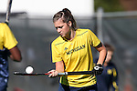 15 November 2015: Michigan's Sina Lampe (GER). The University of North Carolina Tar Heels played the University of Michigan Wolverines at Francis E. Henry Stadium in Chapel Hill, North Carolina in a 2015 NCAA Division I Field Hockey Tournament Quarterfinal match. UNC won the game 1-0.