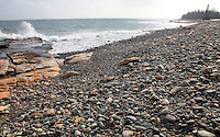 Incoming Tide & Cobblestones at Seawall #A102