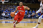15 November 2014: Fairfield's Jerome Segura. The Duke University Blue Devils hosted the Fairfield University Stags at Cameron Indoor Stadium in Durham, North Carolina in an NCAA Men's Basketball exhibition game. Duke won the game 109-59.